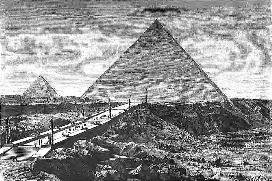La pyramide de kheops les merveilles du monde for Architecte de pyramide