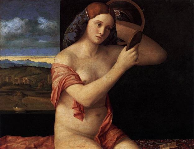 Femme nue et un tigre